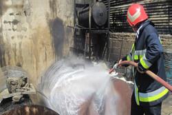 آتش در پمپ بنزین یک مصدوم داشت/حریق مهار شد