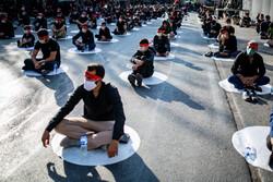 تجمع عصر تاسوعا در میدان شهدای کرج