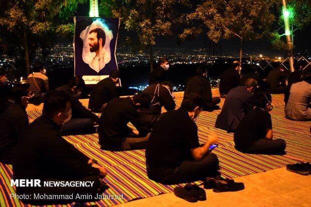 عزاداری شب تاسوعا در کهف الشهدا