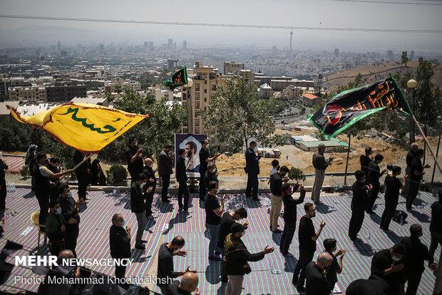 مراسم عزاداری تاسوعای حسینی در یادمان شهدای گمنام کهف الشهدا