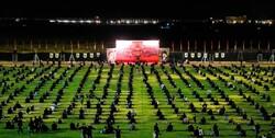 عزاداری شب عاشورا در ورزشگاه شهدا اسلامشهر