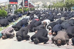 نماز ظهر عاشورا درشهر یاسوج برگزار شد