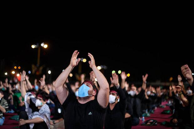 مراسم عزاداری شب عاشورای حسینی(ع) در هیات ریحانه الحسین
