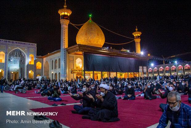 عزاداری شب عاشورای حسینی در حرم مطهر شاهچراغ(ع)