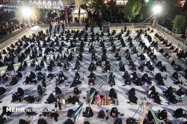 مراسم عزاداری شب عاشورای حسینی هیئت رزمندگان اسلام
