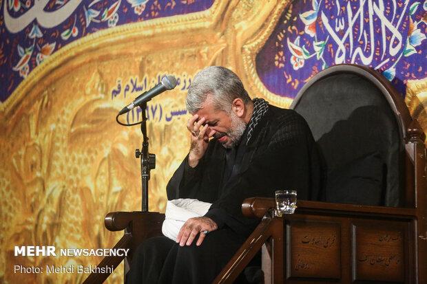 عزاداری شب عاشورای حسینی هیئت رزمندگان اسلام قم
