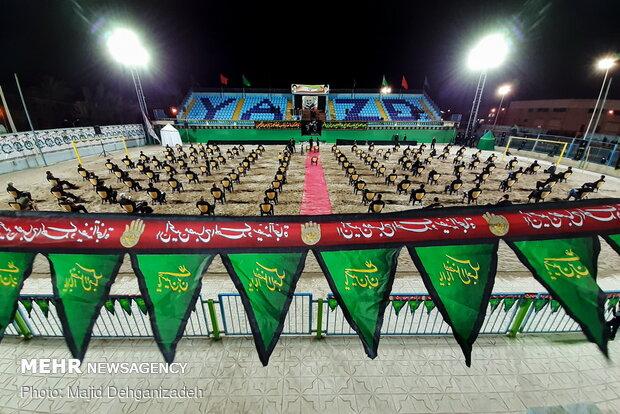 عزاداری شب عاشورا در ورزشگاه مردآباد یزد