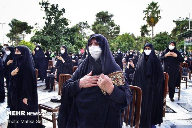 عزاداری ظهر عاشورا در امامزاده عبدالله گرگان