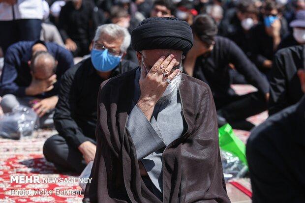 عزاداری عاشورای حسینی در حرم حضرت معصومه(س)