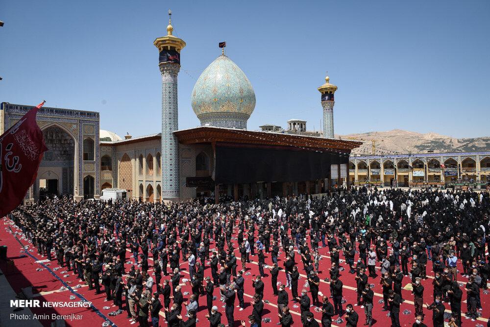 عزاداری و آیین خیمه سوزان ظهر عاشورای حسینی در شیراز