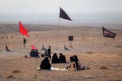 سمنان کے صحرا میں عزاداری منعقد