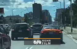 راهپیمایی محرم با خودرو در تورنتو
