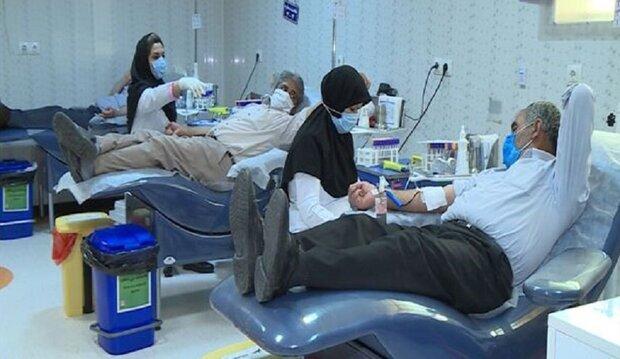 مبادرة التبرع بالدم احیاءا لعاشوراء الحسیني