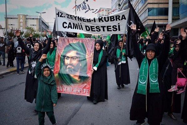 İstanbul'daki Aşura matem töreninden görüntüler