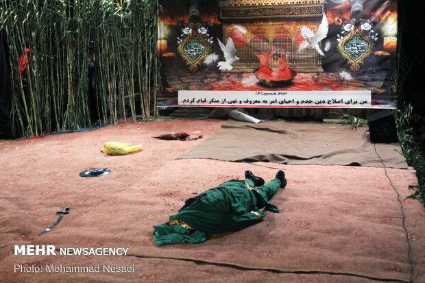 Ta'zieh ceremony on night of Sham-e-Ghariban in Gorgan
