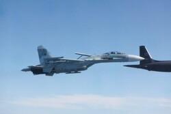 جنگندههای روسیه هواپیماهای نظامی فرانسوی را رهگیری کردند