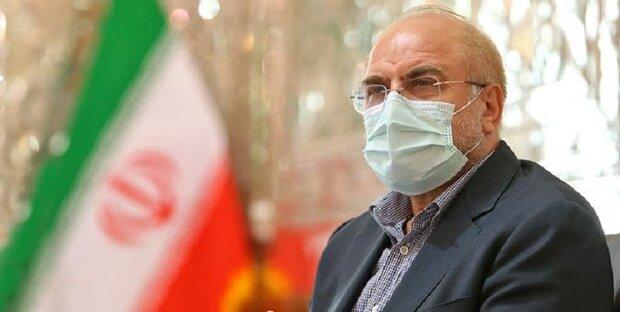 قاليباف ورئيس مجلس الشيوخ الباكستاني يؤكدان على تطوير العلاقات بين طهران واسلام آباد