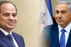 گفتگوی تلفنی نتانیاهو با السیسی با محوریت عادی سازی روابط