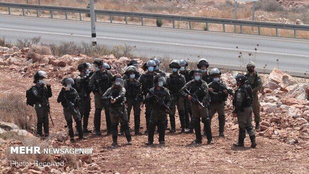 Filistin halkından Siyonist Rejim'e karşı protesto