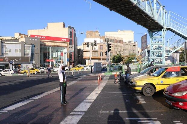 طرح توقف خودروها پشت خط عابر پیاده در حال اجراست