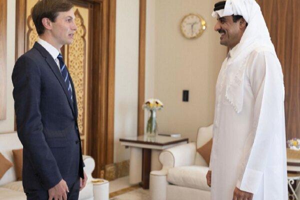 رایزنی کوشنر با امیر قطر در دوحه
