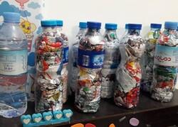 ترویج فرهنگ مهار پسماندهای غیرقابل بازیافت با جمعآوری آجرهای پلاستیکی