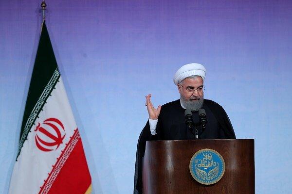 حضور مجازی رئیس جمهور در جشن آغاز سال تحصیلی دانشگاه تهران