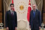 دیدارهای نچیروان بارزانی با مقامات ترکیه/ توسعه روابط محور گفتگوها