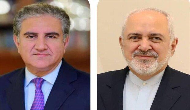 تعاطف ايراني مع باكستان في اتصال هاتفي بين ظريف و نظيره الباكستاني