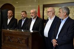 هنیه و مفتی لبنان درباره خطرات تهدید کننده آرمان فلسطین رایزنی کردند