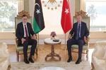اردوغان با رئیس دولت وفاق ملی لیبی دیدار کرد