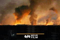 شام کے صوبہ حماہ میں بھیانک آگ لگ گئی