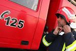 مهار بخش های اصلی حریق شهر لبنیات/یک آتش نشان مصدوم شد