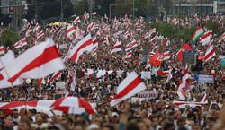 ادامه راهپیمایی مخالفان دولت در بلاروس