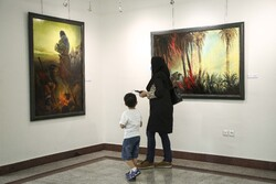 """Along with Light"" painting exhibition in Tehran"
