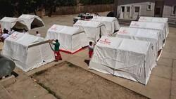 چادرهای امدادی در مناطق زلزله زده رامیان برپا شد