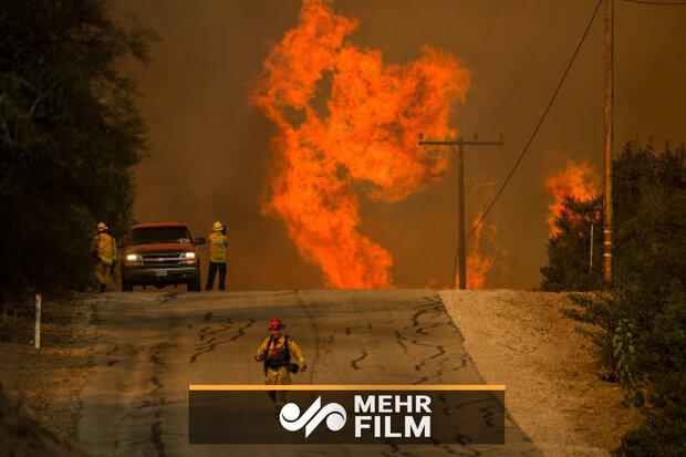 VIDEO: Massive fire in California forces people to evacuate