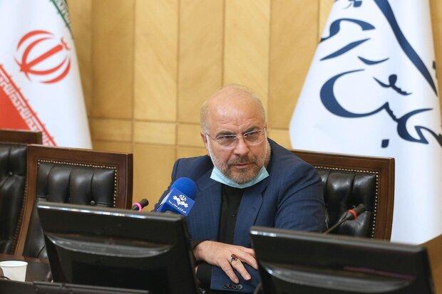 رئيس البرلمان الإيراني يؤكد ضرورة تحويل تهديدات العدو الى فرص