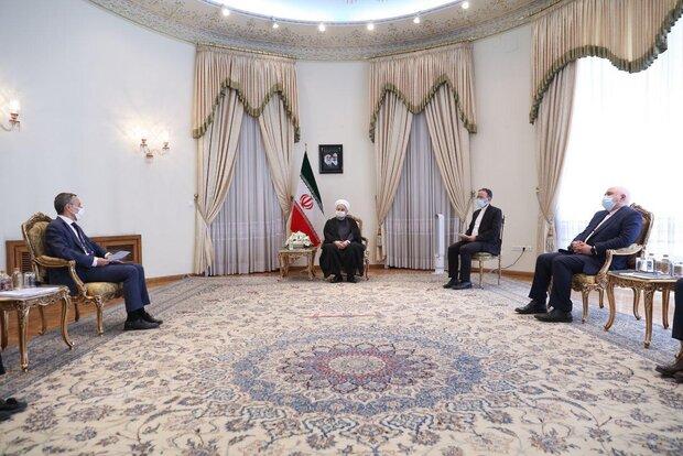 Ruhani, İsviçre Dışişleri Bakanı'nı kabul etti