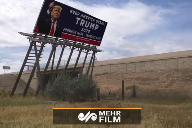 VIDEO: Trump's campaign billboard pulled down