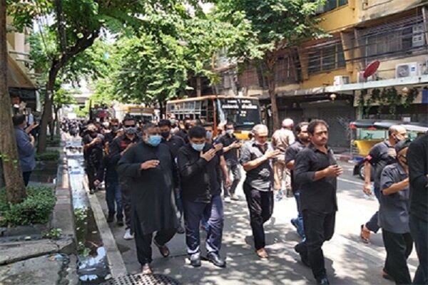 دسته عزاداران حسینی در خیابانهای بانکوک