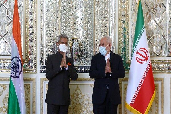 تہران میں بھارتی وزير خارجہ کی ظریف سے ملاقات