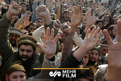 Charlie Hebdo dergisinin alçak eylemi Pakistan'da protesto edildi