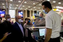 İran Havacılık Kurumu Müdürü, havalimanındaki korona önlemleri inceledi
