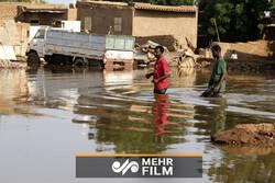 تصاویر هوایی از سیل در سودان