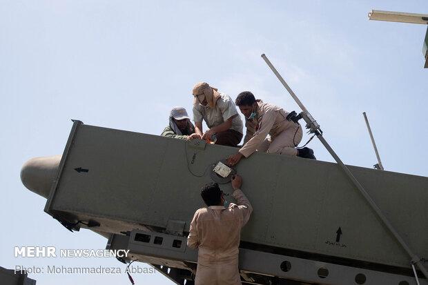 "Firing of ""Ghader"" cruise missile in Zolfaghar-99 war game"