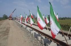 عملیات ریل گذاری راه آهن رشت- کاسپین- انزلی آغاز شد