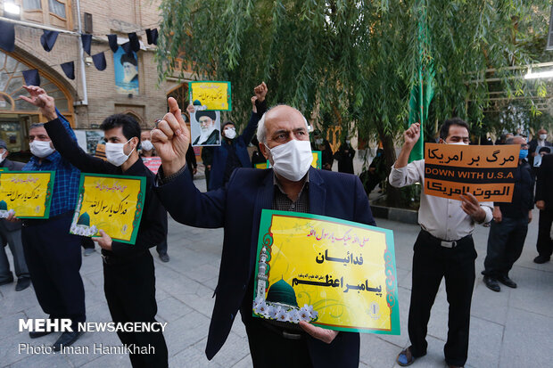 People of Hamedan condemn Charlie Hebdo's insulting cartoon