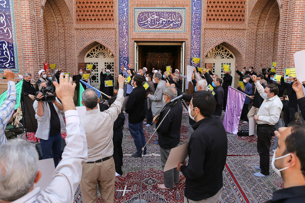 تجمع اعتراضآمیز مردم قزوین در محکومیت توهین به پیامبر اسلام (ص)