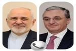 ظریف و وزیر امور خارجه ارمنستان درباره روابط دو کشور گفتگو کردند
